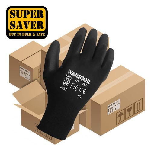 Warrior Black PU Gloves - 120 Pairs